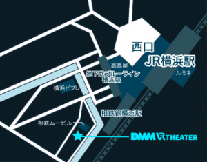 DMM VR THEATER MAP