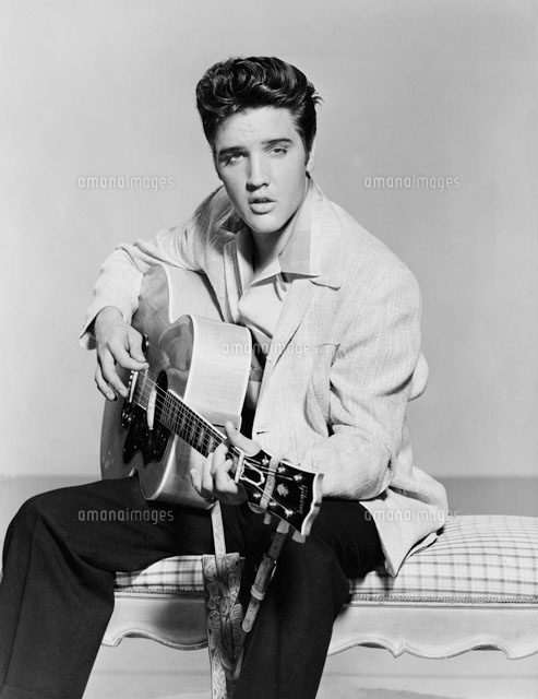 Elvis Presley Playing Acoustic Guitar