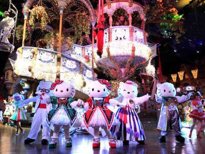 サンリオピューロランドハートフルリボンクリスマスはパレードやショーもみどころ!